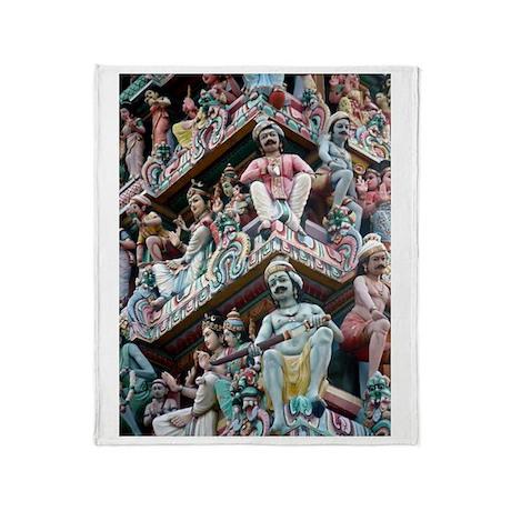 Hindu Temple - Singapore Throw Blanket