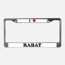 I Love Rabat License Plate Frame