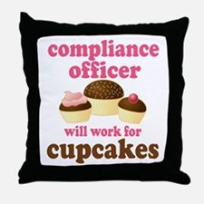 Funny Compliance Officer Throw Pillow