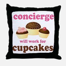 Funny Concierge Throw Pillow