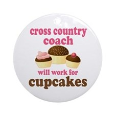 Funny Cross Country Coach Ornament (Round)
