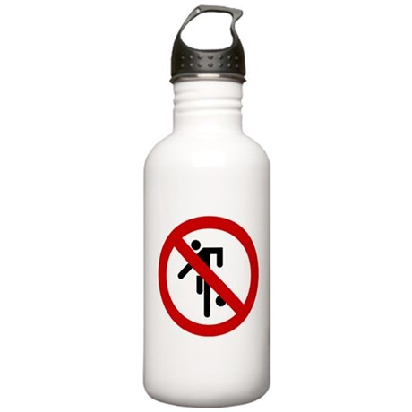 Funny NO Ball Games Sign Stainless Water Bottle 1.