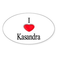 Kasandra Oval Decal