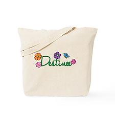 Destinee Flowers Tote Bag