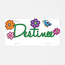 Destinee Flowers Aluminum License Plate