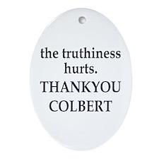Thankyou Colbert Oval Ornament