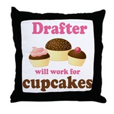 Funny Drafter Throw Pillow