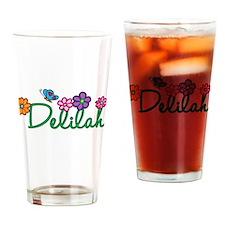 Delilah Flowers Drinking Glass