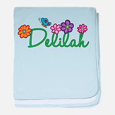 Delilah Flowers baby blanket