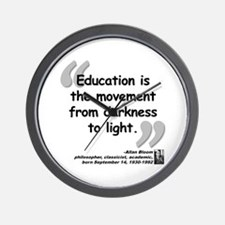 Bloom Education Quote Wall Clock