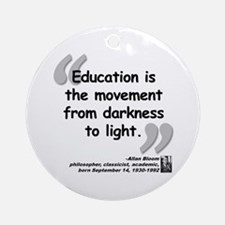 Bloom Education Quote Ornament (Round)