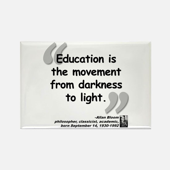 Bloom Education Quote Rectangle Magnet