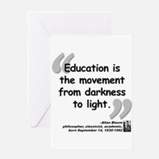 Bloom Education Quote Greeting Card