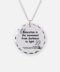 Bloom Education Quote Necklace