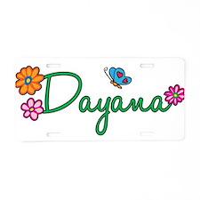 Dayana Flowers Aluminum License Plate