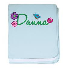 Danna Flowers baby blanket