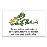 Dragon Affairs Sticker (Rectangle 10 pk)