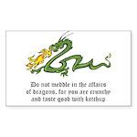 Dragon Affairs Sticker (Rectangle)