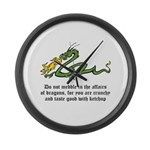 Dragon Affairs Large Wall Clock