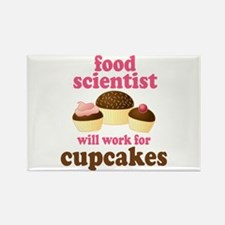 Funny Food Scientist Rectangle Magnet