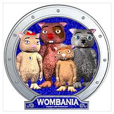 Wombies' Blue Group Portrait Poster