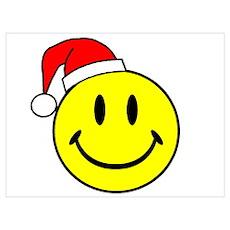 Smile (Santa Hat) Poster