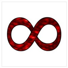 Red Infinity Symbol Poster