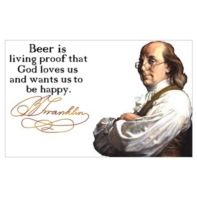 Franklin on Beer Canvas Art