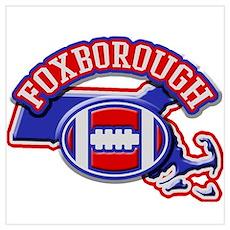 Foxborough Football Poster
