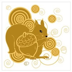 Squirrely Squirrel Canvas Art