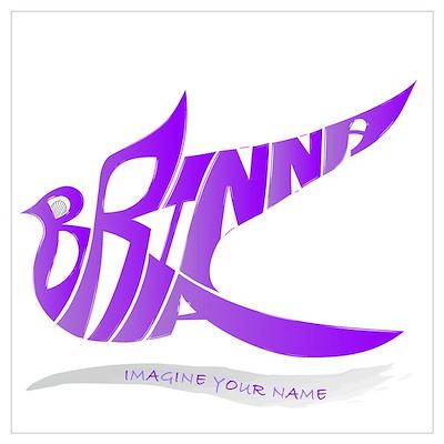Brianna purple bird Poster
