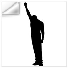 Black Power Fist Raised Wall Decal