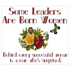 Some Leaders are Born Women Canvas Art