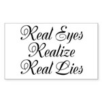 Real Eyes Sticker (Rectangle 50 pk)