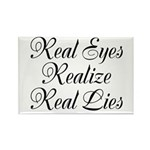 Real Eyes Rectangle Magnet (10 pack)