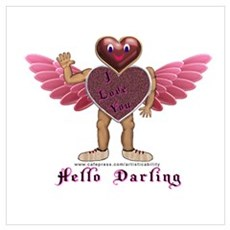 Heartman, Hello Darling Framed Print