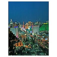 Las Vegas strip from Mandalay Bay Poster