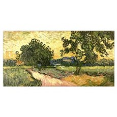 Van Gogh Castle of Auvers Poster