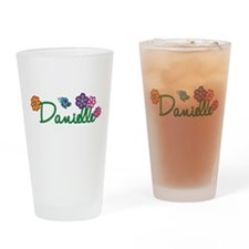 Danielle Flowers Drinking Glass
