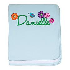Danielle Flowers baby blanket