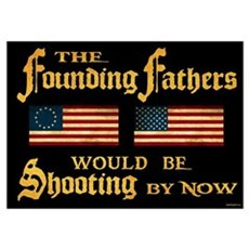 Founding Fathers Shooting Poster