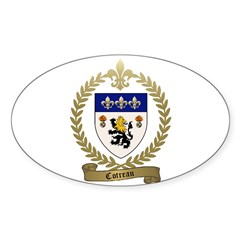 COTREAU Family Crest Decal