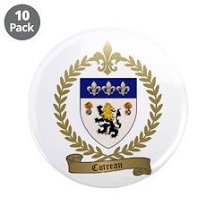 """COTREAU Family Crest 3.5"""" Button (10 pack)"""