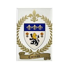 COTREAU Family Crest Rectangle Magnet