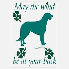 Irish Wolfhound and Shamrocks