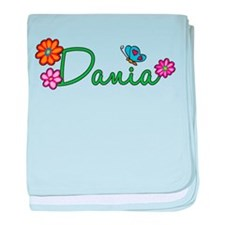Dania Flowers baby blanket