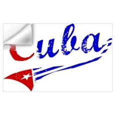 Cuba Flag Distressed Wall Decal
