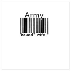 Army Issued Wife (Barcode) Poster