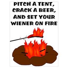 Wiener On Fire Poster