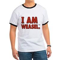 I Am Weasel Logo Ringer T